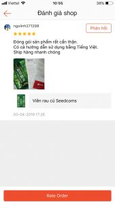 review vien rau cu seedcoms 2
