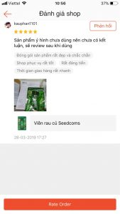 review vien rau cu seedcoms 8